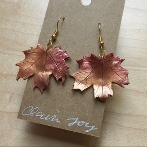 HP! 🍁 Fall Maple Leaf Earrings Polymer Clay